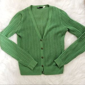 Urban Outfitters Green Knit Cardigan Sweater